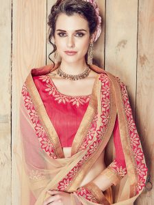 Buy Embroidered Saree