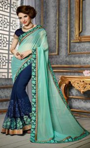 Different Color Pleats in saree