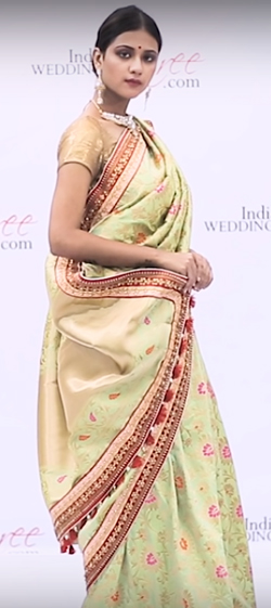 How to Wear South Indian Style Wedding Saree?