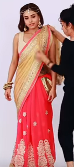HOW TO WEAR LEHENGA STYLE SAREE IN A DIFFERENT FORM