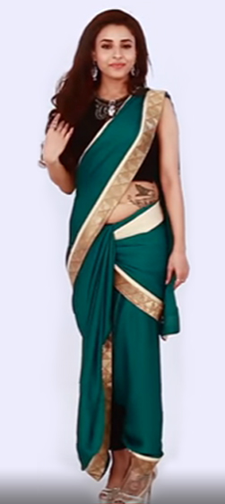 HOW TO WEAR A SAREE IN DHOTI STYLE