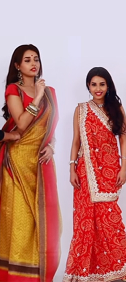 HOW TO WEAR BENGALI AND GUJARATI WEDDING STYLE SAREES