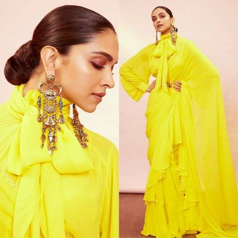 Pretty up in the Celebrity-inspired Plain Sarees