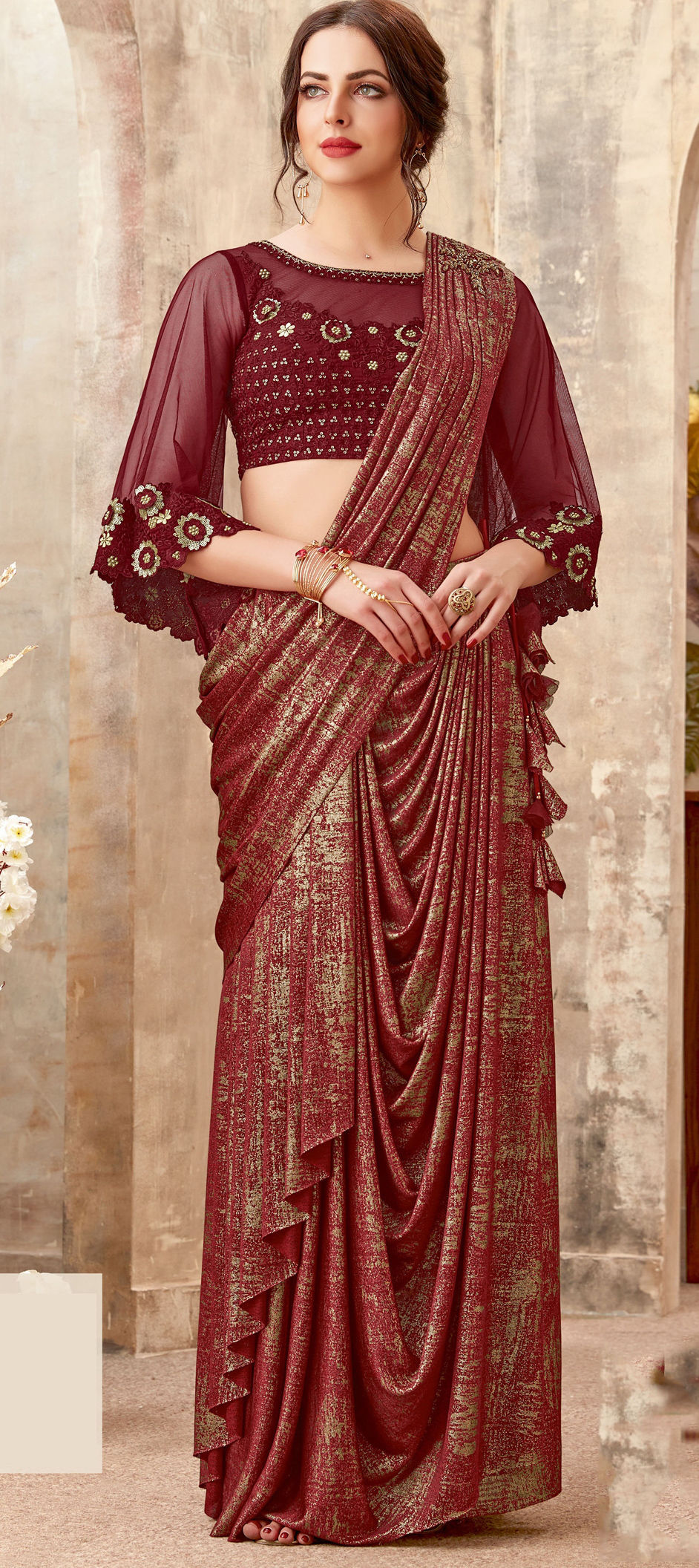 Slay in style on Karwa Chauth 2019 with Readymade Pre-stitched Sarees