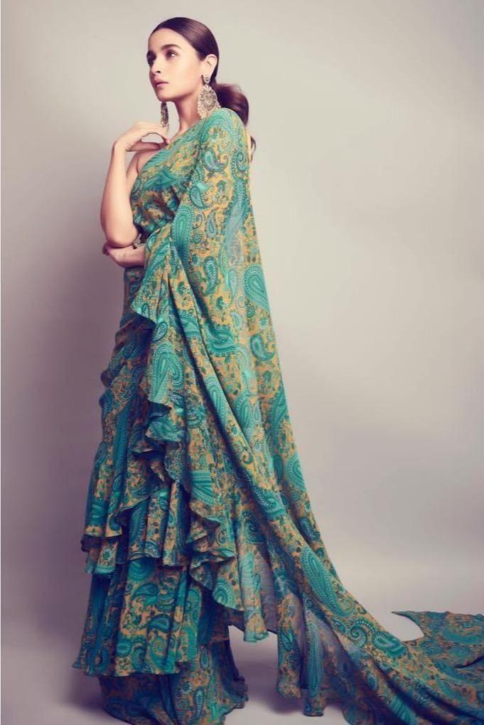 Alia Bhatt Ruffle saree