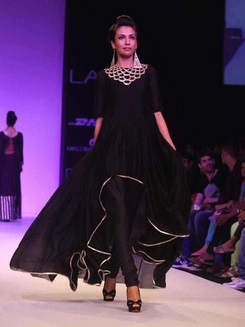 High-low style salwar kameez