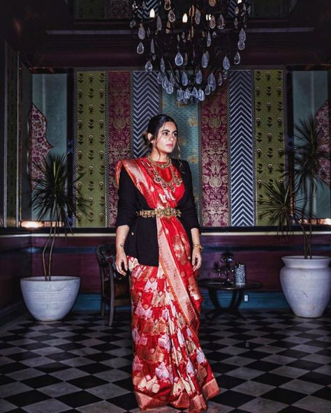 Stay stylishly warm in winter with these saree hacks