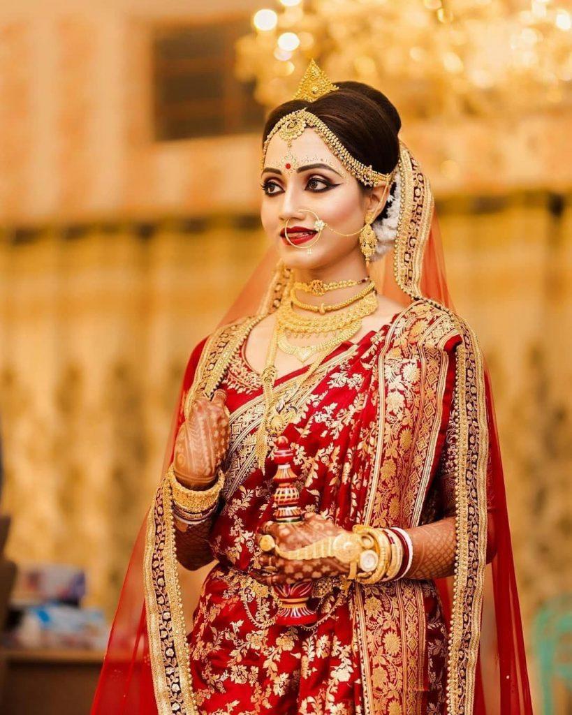Bridal Bengali saree