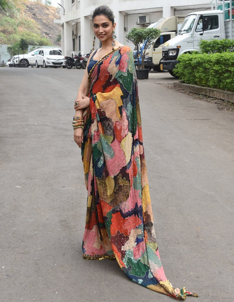 Multi-colored designer sarees