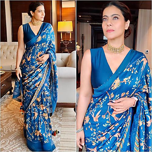 Kajol printed saree