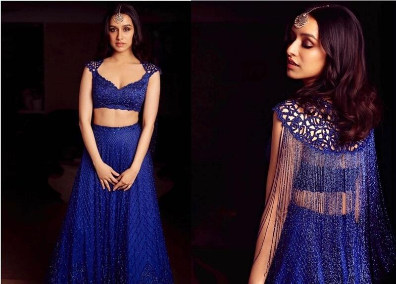Shraddha-Kapoor-Blue Lehenga