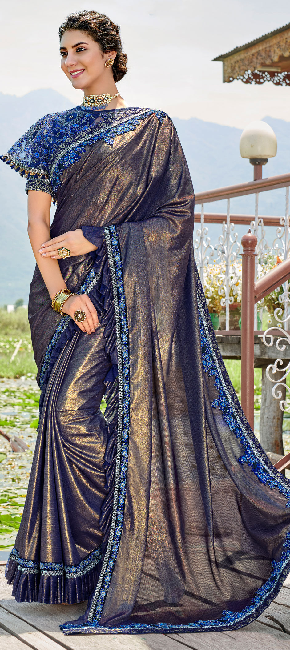 Enhance your Engagement Day Look with These Beautiful Sarees