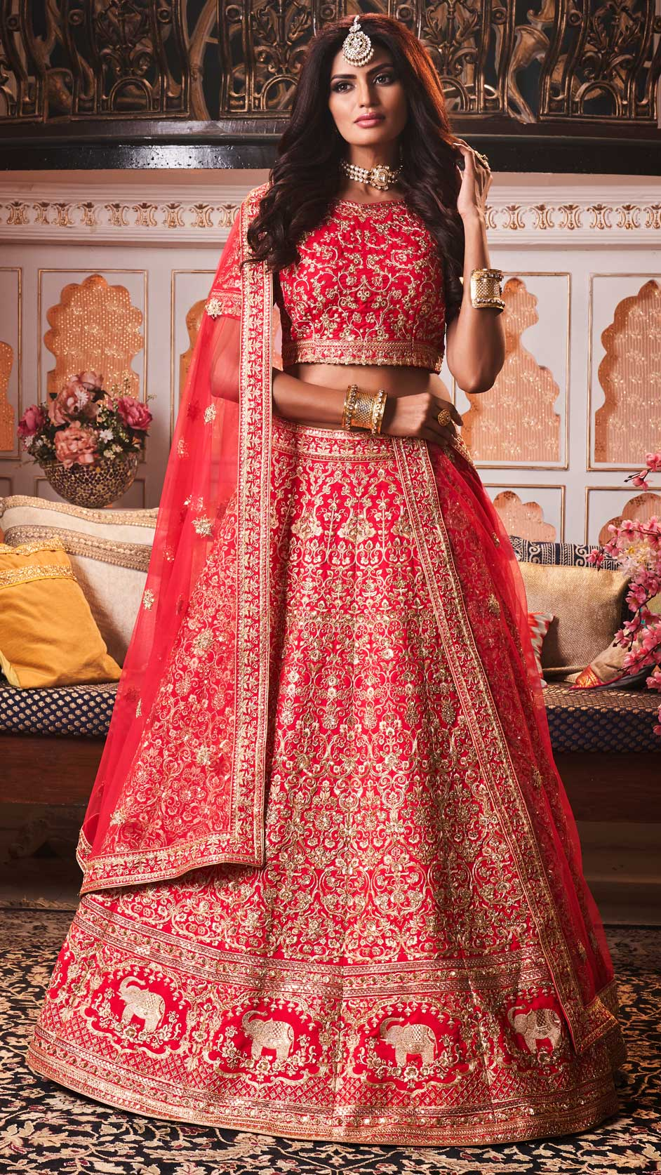 5 Ideal Bridal Wedding Lehengas for the Gorgeous Bride-To-Be