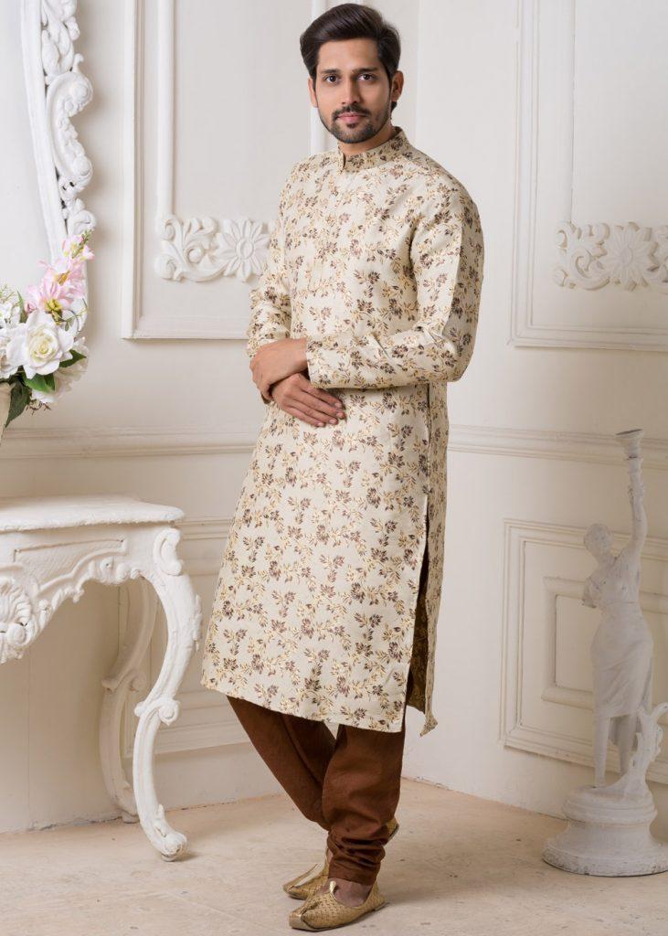 Floral Print Kurta Pyjama