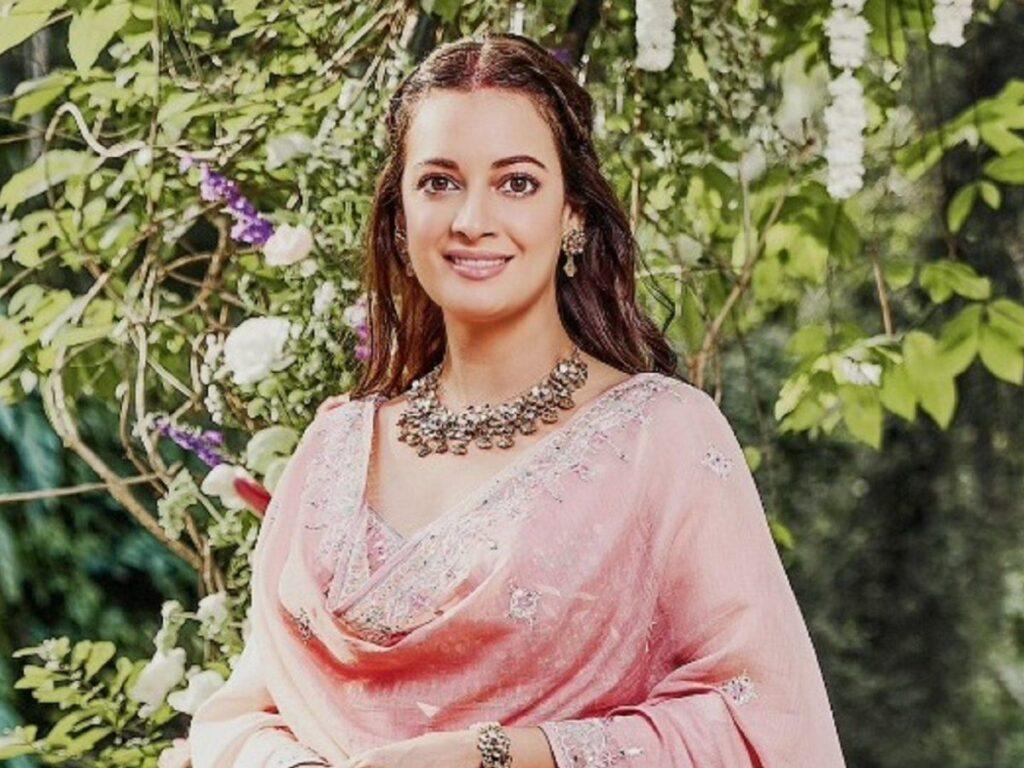 Wedding salwar suit with jewelry