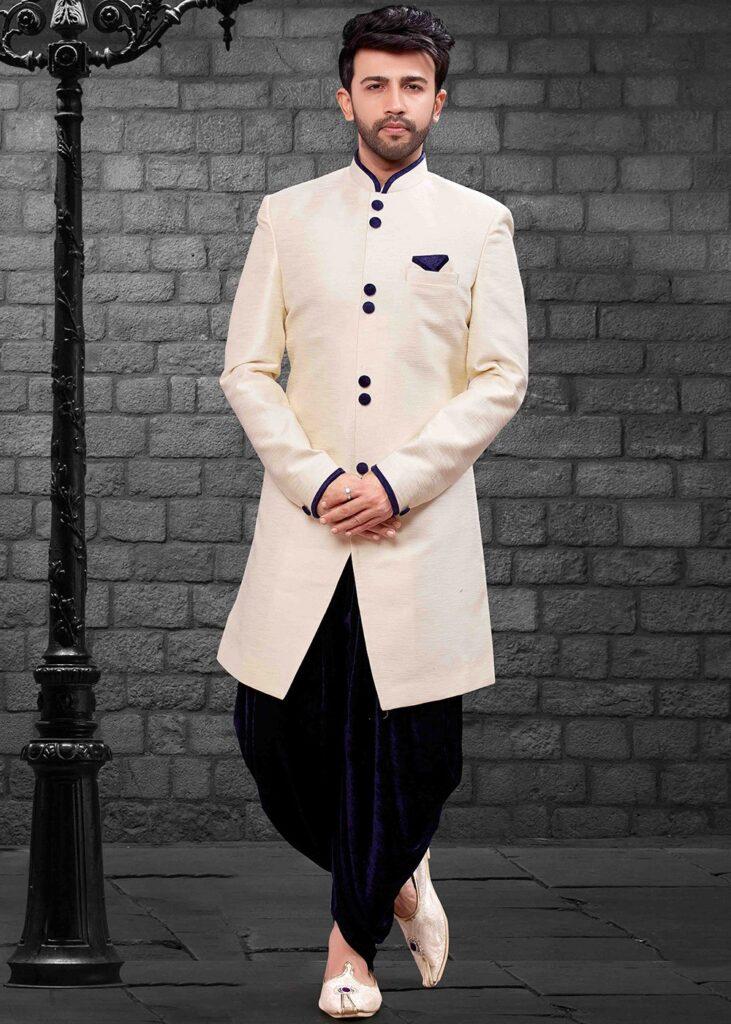 5 Dhoti Sherwani Styles for the Dapper Grooms